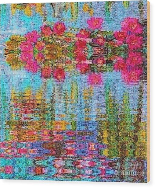 Reflections Of Monet Wood Print