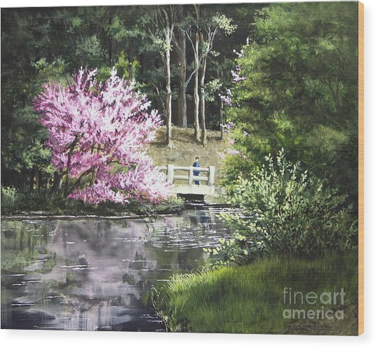 Reflections Of Spring Wood Print