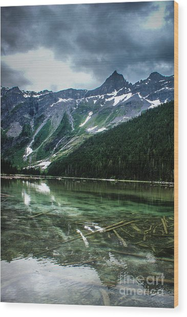 Reflections On Avalanche Lake  Wood Print