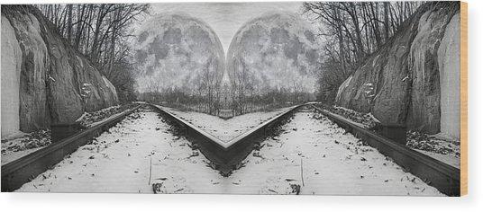 Reflective Journey Wood Print
