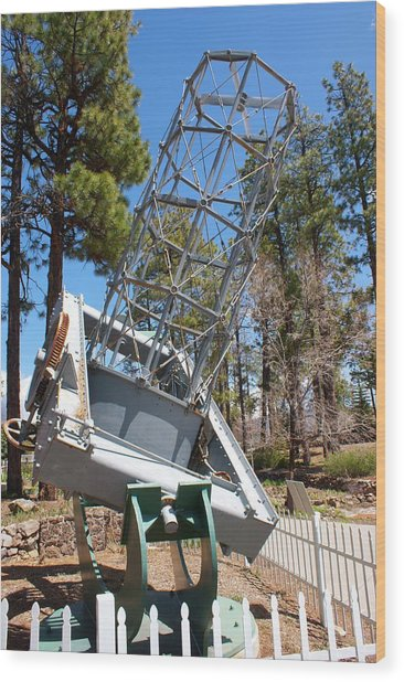 Reflector Telescope At Lowell Observatory Wood Print