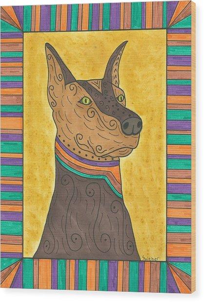 Regal Doberman Wood Print
