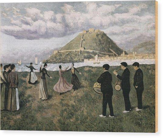 Regoyos, Dar�o De 1875-1913. Basque Wood Print by Everett