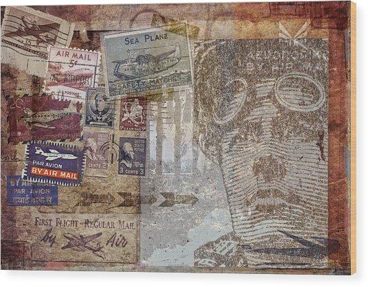 Regular Mail By Air Wood Print