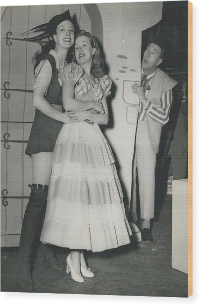 Rehearsal For ``dick Whittington� At The Palladium Wood Print by Retro Images Archive