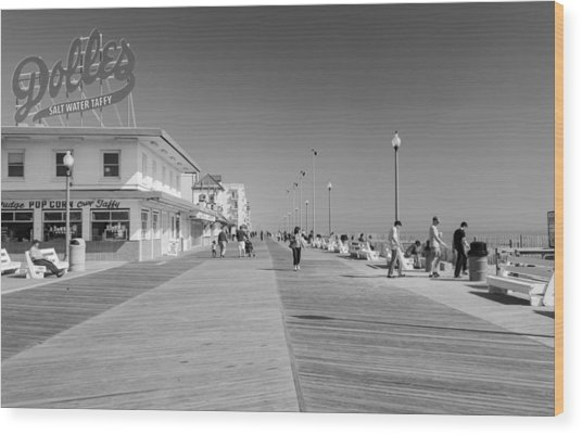 Rehoboth Beach Boardwalk Wood Print