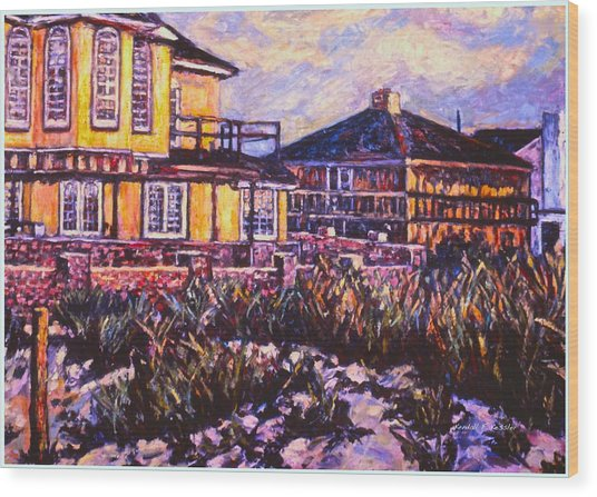 Rehoboth Beach Houses Wood Print