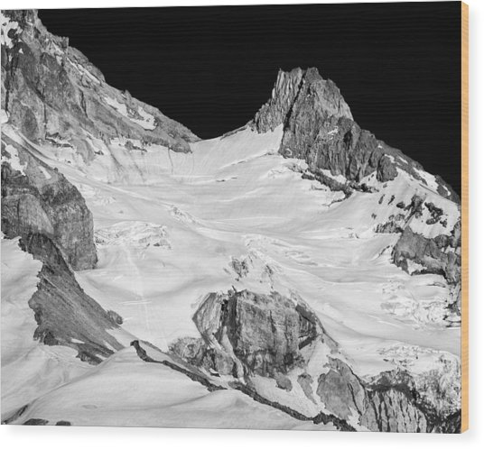Reid Glacier And Illumination Rock Wood Print
