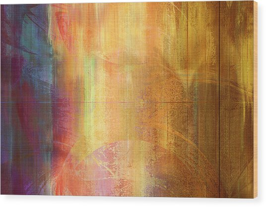 Reigning Light - Abstract Art Wood Print