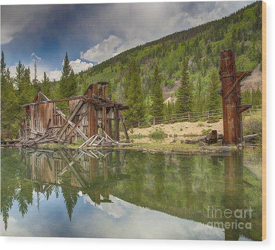 Reiling Dredge Reflection  Wood Print
