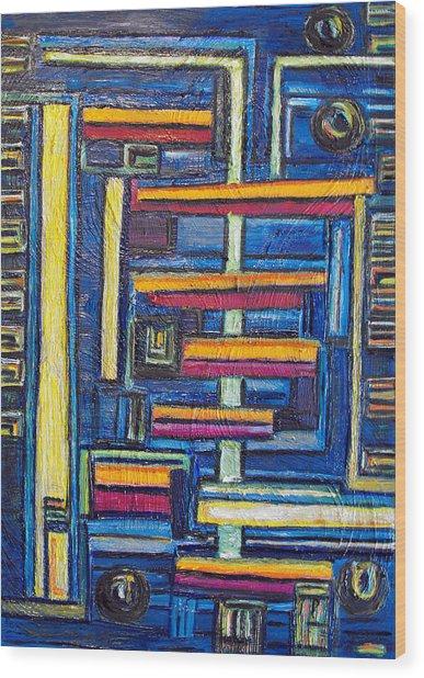 Relations II. Wood Print by Agnes Roman
