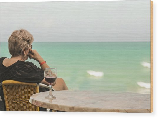 Relax And Enjoy The View Wood Print