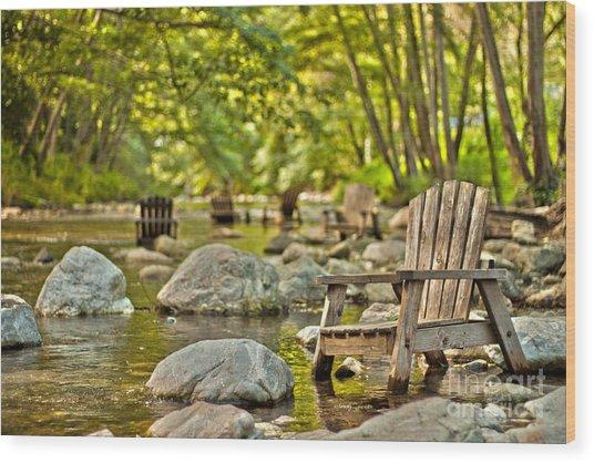 Relax Revivify Rejuvenate Wood Print