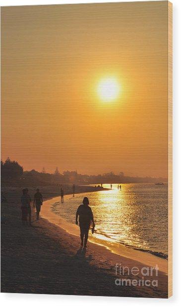 Relax Sunlit Oracle Wood Print by Coralie Plozza