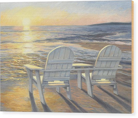 Beach Chair Wood Prints And Beach Chair Wood Art