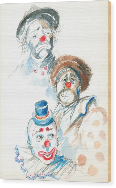 Remember The Clowns Wood Print