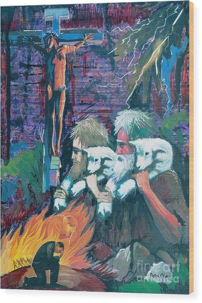 Remember The Shepherd Wood Print by Peter Olsen