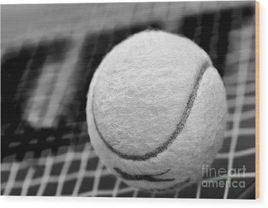 Remember The White Tennis Ball Wood Print