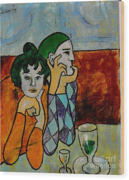Remembering Picasso Wood Print