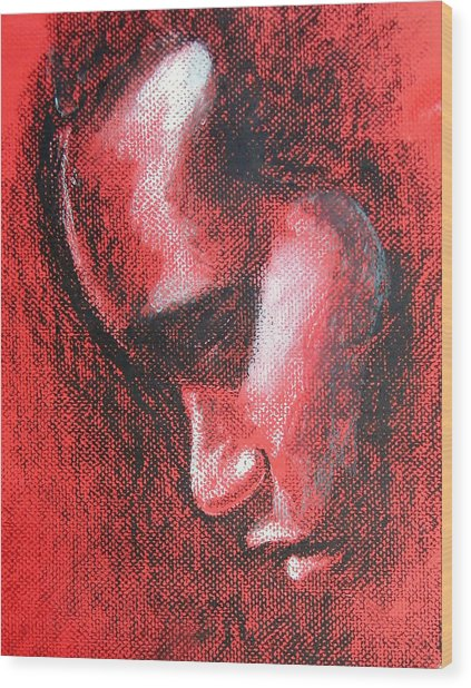 Renew My Mind Wood Print by Alphonso Edwards II