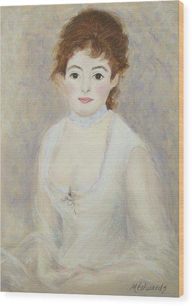 Renoir's Lady Wood Print