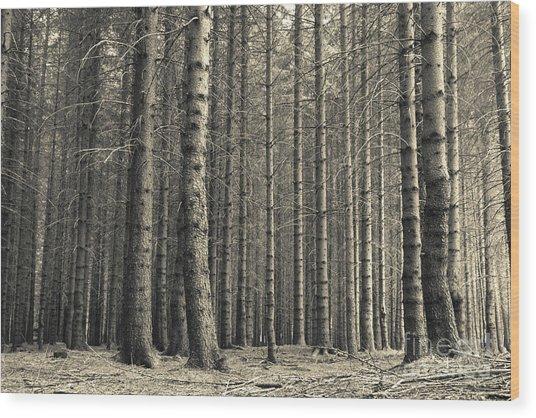 Repeated Silence Wood Print