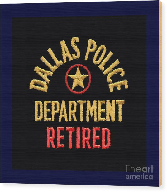 Replica D P D Patch - Retired Wood Print