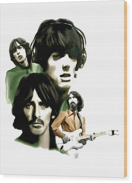 Requiem II George Harrison Wood Print