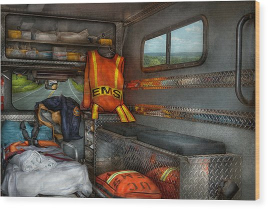 Rescue - Emergency Squad  Wood Print