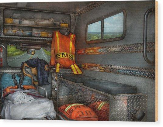 Rescue - Emergency Squad  Wood Print