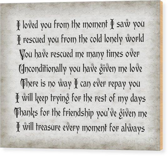 Rescue Love Wood Print