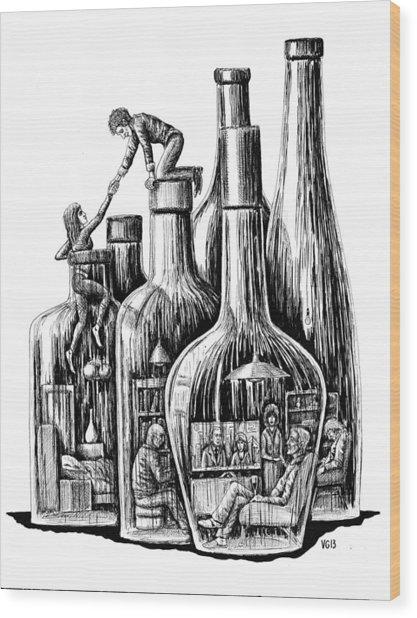 Rescue Wood Print by Vitaliy Gonikman