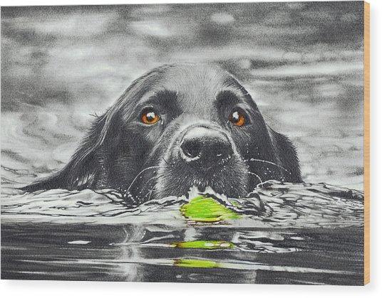 Reservoir Dog Wood Print