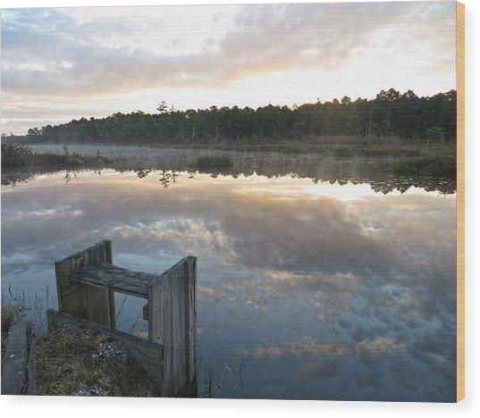 Reservoir Reflections Wood Print