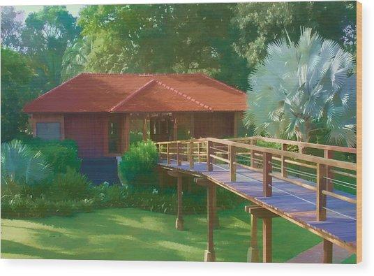 Resort Spa Wood Print