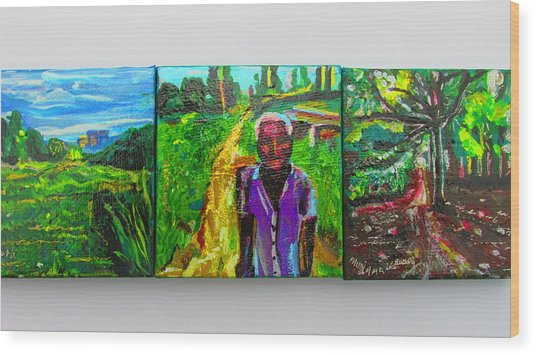 Rest In Peace - Uncle Momoh Wood Print