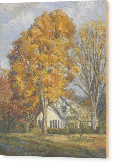 Restful Autumn Wood Print