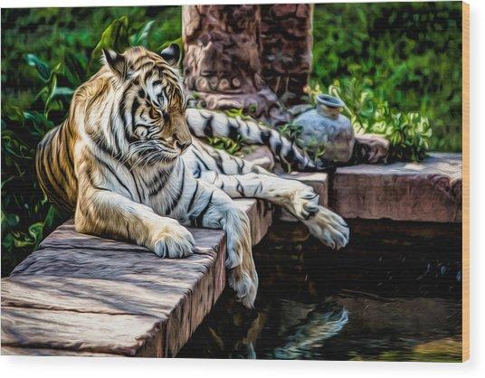 Resting Beauty Wood Print