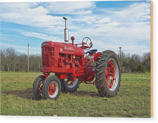 Restored Farmall Tractor Wood Print