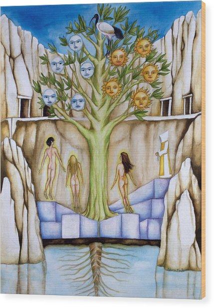 Resurrection Island Wood Print by Rebecca Barham