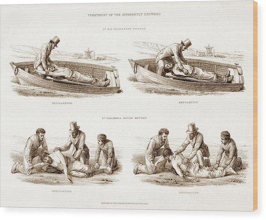 Resuscitation Wood Print