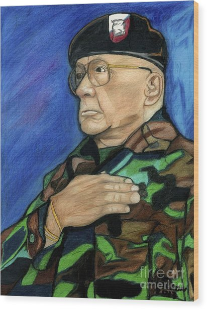 Ret Command Sgt Major Kittleson Wood Print