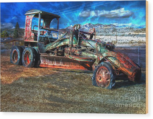 Retired Caterpillar Wood Print