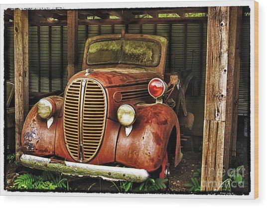 Retired Hero Wood Print