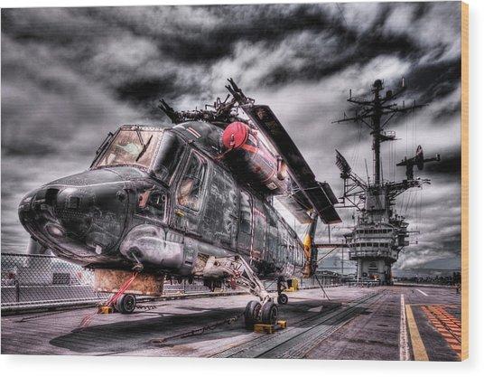 Retired Pilot Wood Print