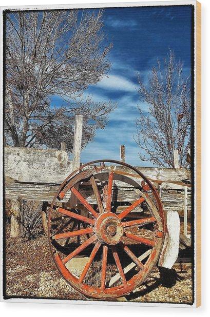 Retirement Blues - U S 395 California Wood Print