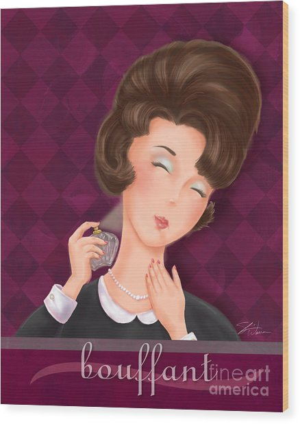 Retro Hairdos-bouffant Wood Print