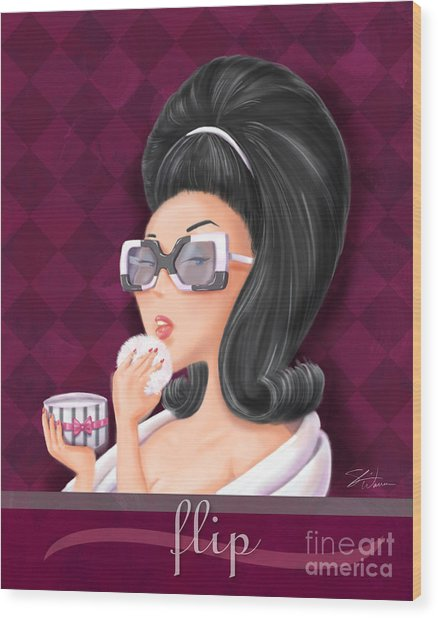 Retro Hairdos-flip Wood Print