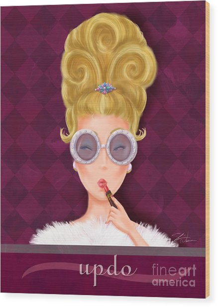 Retro Hairdos-updo Wood Print