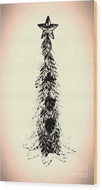 Retro Xmas Wood Print